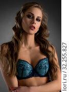 Gorgeous model posing in fancy lingerie with lace. Стоковое фото, фотограф Гурьянов Андрей / Фотобанк Лори