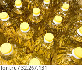 Купить «Sunflower Oil Is The Non-Volatile Oil Pressed From The Seeds Of Sunflower (Helianthus annuus).», фото № 32267131, снято 12 сентября 2019 г. (c) easy Fotostock / Фотобанк Лори