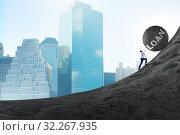 Купить «Concept of debt and loan», фото № 32267935, снято 24 октября 2019 г. (c) Elnur / Фотобанк Лори