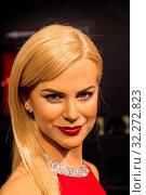 Купить «England, London, Marylebone, Interior View of Madam Tussauds, Waxwork Figure of Australian Actress Nicole Kidman», фото № 32272823, снято 14 декабря 2019 г. (c) age Fotostock / Фотобанк Лори