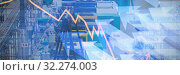 Купить «Composite image of stocks and shares», фото № 32274003, снято 28 мая 2020 г. (c) Wavebreak Media / Фотобанк Лори