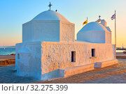 Купить «Agios Nikolaos church in Aegina», фото № 32275399, снято 12 сентября 2019 г. (c) Роман Сигаев / Фотобанк Лори