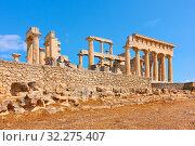 Купить «Ancient greek temple of Aphaea», фото № 32275407, снято 13 сентября 2019 г. (c) Роман Сигаев / Фотобанк Лори