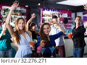 Купить «Females enjoying party in nightclub», фото № 32276271, снято 2 августа 2017 г. (c) Яков Филимонов / Фотобанк Лори