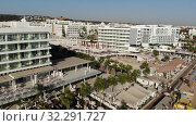 Protaras, Cyprus - Oct 11. 2019. Hotels on the Famous Sunrise Beach. Редакционное видео, видеограф Володина Ольга / Фотобанк Лори