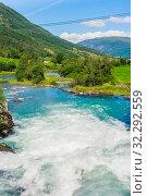 Купить «River Oldeelva. Olden. Norway», фото № 32292559, снято 7 августа 2020 г. (c) Николай Коржов / Фотобанк Лори
