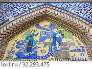 Armenian Holy Savior Cathedral, Surb Amenaprkich Vank, 1664, Annunciation, New Julfa, Armenian quarter, Isfahan, Isfahan Province, Iran. Стоковое фото, фотограф Ivan Vdovin / age Fotostock / Фотобанк Лори