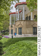 Купить «Ahmad Shahi Pavilion, Niavaran palace, Tehran, Iran.», фото № 32293927, снято 3 мая 2019 г. (c) age Fotostock / Фотобанк Лори