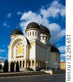 Купить «Holy Trinity Cathedral in Arad, Romania», фото № 32295651, снято 13 сентября 2017 г. (c) Яков Филимонов / Фотобанк Лори