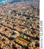 Residential area of Barcelona in Spain (2016 год). Стоковое фото, фотограф Яков Филимонов / Фотобанк Лори