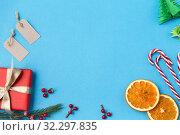 Купить «christmas gift, tags and decorations», фото № 32297835, снято 26 сентября 2018 г. (c) Syda Productions / Фотобанк Лори