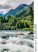 Купить «The River Oldeelva. Olden. Norway», фото № 32298959, снято 7 августа 2020 г. (c) Николай Коржов / Фотобанк Лори