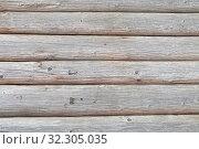 Купить «Текстура бревенчатой стены», фото № 32305035, снято 2 сентября 2012 г. (c) Игорь Долгов / Фотобанк Лори