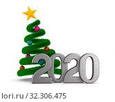 Купить «2020 new year. Isolated 3D illustration», иллюстрация № 32306475 (c) Ильин Сергей / Фотобанк Лори