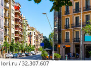Купить «Eixample district - most beautiful area of Barcelona. Spain», фото № 32307607, снято 28 июля 2019 г. (c) Яков Филимонов / Фотобанк Лори