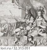 Купить «Allegory of the coronation of Englandâ.s King William III and Queen Mary II on April 11, 1689. After a work by Romeyn de Hooghe.», фото № 32313051, снято 1 января 2019 г. (c) age Fotostock / Фотобанк Лори