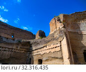 Купить «Ruins of the Baths of Caracalla (Terme di Caracalla), Thermae Antoninianae , one of the most important baths of Rome at the time of the Roman Empire, Rome, Lazio, Italy, Europe, UNESCO World Heritage.», фото № 32316435, снято 6 октября 2019 г. (c) age Fotostock / Фотобанк Лори