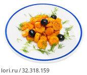 Купить «Glazed carrots with dill», фото № 32318159, снято 23 октября 2019 г. (c) Яков Филимонов / Фотобанк Лори