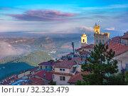 Купить «San Marino at sunrise», фото № 32323479, снято 26 сентября 2019 г. (c) Коваленкова Ольга / Фотобанк Лори