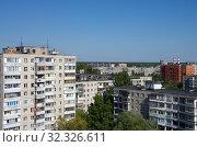 Купить «Виды города Жуковского с высоты», фото № 32326611, снято 24 августа 2018 г. (c) Natalya Sidorova / Фотобанк Лори