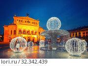 Alte Oper in Frankfurt (2012 год). Стоковое фото, фотограф Sergey Borisov / Фотобанк Лори