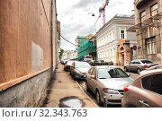 Купить «Малый Знаменский переулок. Район Хамовники. Город Москва», эксклюзивное фото № 32343763, снято 22 мая 2009 г. (c) lana1501 / Фотобанк Лори