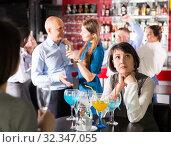 Купить «Bored woman at party», фото № 32347055, снято 25 марта 2019 г. (c) Яков Филимонов / Фотобанк Лори