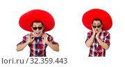 Купить «Funny mexican with sombrero in concept», фото № 32359443, снято 21 января 2014 г. (c) Elnur / Фотобанк Лори