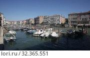Купить «Scenic view of Grand Canal - main Venetian canal with old colorful architecture of central districts in sunny day», видеоролик № 32365551, снято 5 сентября 2019 г. (c) Яков Филимонов / Фотобанк Лори
