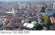 Купить «Panoramic aerial view of ancient Padua downtown on sunny autumn day, Italy», видеоролик № 32365591, снято 5 сентября 2019 г. (c) Яков Филимонов / Фотобанк Лори