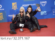 Купить «Juju, Loredana attends 2019 MTV Europe Music Awards (EMAs) - Winners Room at FIBES Conference and Exhibition Centre on November 3, 2019 in Sevilla, Spain», фото № 32371167, снято 3 ноября 2019 г. (c) age Fotostock / Фотобанк Лори