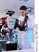 Купить «Robot Autonomy for Flexible Manufacturing, Collaborative robotic, Advanced manufacturing Unit, Technology Centre, Tecnalia Research & Innovation, Donostia...», фото № 32387251, снято 14 мая 2019 г. (c) age Fotostock / Фотобанк Лори