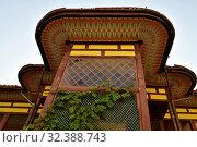 Bakhchisaray, Crimea - July 2.2019. A fragment of architecture of Khan Palace. Museum. Редакционное фото, фотограф Володина Ольга / Фотобанк Лори