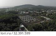 Купить «Phu Quoc Coconut Prison concentration camp museum 4K Drone shot», видеоролик № 32391599, снято 3 ноября 2019 г. (c) Aleksejs Bergmanis / Фотобанк Лори
