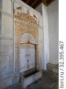 Bakhchisaray, Crimea - July 2.2019. Golden Fountain in the Khan Palace. Редакционное фото, фотограф Володина Ольга / Фотобанк Лори