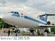 Moscow, Russia - august 12, 2019: passenger aircraft Yak-42 at VDNKH in Moscow. Редакционное фото, фотограф Сергей Трофименко / Фотобанк Лори