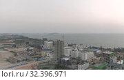 Купить «Sihanoukville city in Cambodia drone shot 4K», видеоролик № 32396971, снято 27 октября 2019 г. (c) Aleksejs Bergmanis / Фотобанк Лори
