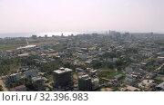 Купить «Sihanoukville city in Cambodia drone shot 4K», видеоролик № 32396983, снято 26 октября 2019 г. (c) Aleksejs Bergmanis / Фотобанк Лори