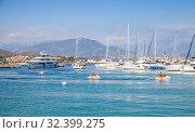 Купить «Marina of Ajaccio at sunny day», фото № 32399275, снято 29 июня 2015 г. (c) EugeneSergeev / Фотобанк Лори