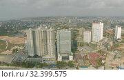 Купить «Sihanoukville city in Cambodia drone shot 4K», видеоролик № 32399575, снято 26 октября 2019 г. (c) Aleksejs Bergmanis / Фотобанк Лори