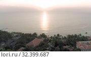 Купить «Phu Quoc Island beach sunset Sea 4K Drone shot», видеоролик № 32399687, снято 3 ноября 2019 г. (c) Aleksejs Bergmanis / Фотобанк Лори