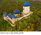 Купить «Panoramic view of castle Karlstejn. Czech Republic», фото № 32410219, снято 10 октября 2019 г. (c) Яков Филимонов / Фотобанк Лори