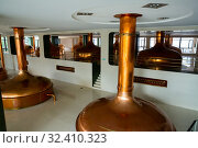 Distillery tanks in brewery. Стоковое фото, фотограф Яков Филимонов / Фотобанк Лори