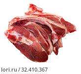Купить «Fresh uncooked sliced mutton», фото № 32410367, снято 28 мая 2020 г. (c) Яков Филимонов / Фотобанк Лори