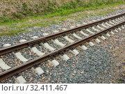 Купить «Детская железная дорога в Нижнем Новгороде. Ширина колеи 750 миллиметров», фото № 32411467, снято 20 июля 2019 г. (c) Александр Романов / Фотобанк Лори