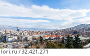 Izmir, Turkey. Panoramic landscape of Izmir city (2015 год). Стоковое фото, фотограф EugeneSergeev / Фотобанк Лори