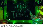 Купить «pumpkins, candies and halloween decorations», видеоролик № 32429683, снято 14 ноября 2019 г. (c) Syda Productions / Фотобанк Лори