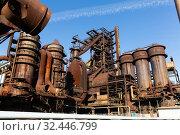 Купить «Old steel factory in area Dolni Vitkovice», фото № 32446799, снято 6 декабря 2019 г. (c) Яков Филимонов / Фотобанк Лори
