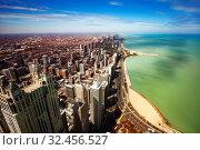 Chicago downtown and Concrete beach an Michigan (2018 год). Стоковое фото, фотограф Сергей Новиков / Фотобанк Лори