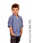 Kleiner Junge in Pose, Symbol für Kindheit, Verschmitztheit, Cleverness. Стоковое фото, фотограф Zoonar.com/Erwin Wodicka / age Fotostock / Фотобанк Лори